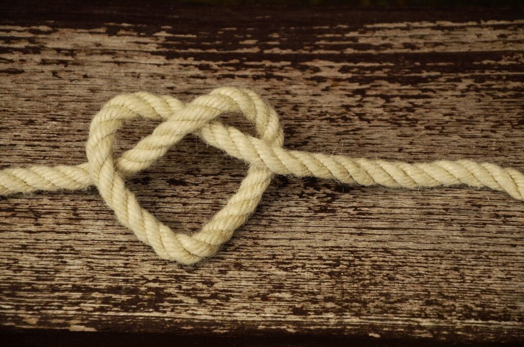 rope, cord, heart